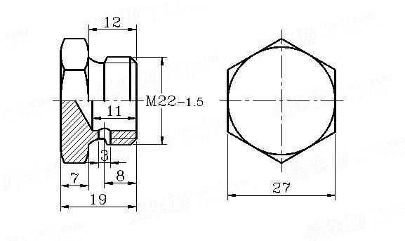 DIN  74305-1-1987 Soldering compression fittings banjo bolt